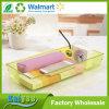 34*15.5*5.5cm 뚜껑 없는 노란 투명한 부엌 냉장고 조직자