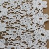 Garmentsのための白いPolyester Embroidery Chemical Lace Fabric