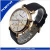AP-Art-neue hochwertige verkaufenmann-Edelstahl-Quarz-Leder-Uhr