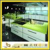 Parte superior contrária verde-maçã de cozinha de quartzo/parte superior do trabalho/parte superior do banco