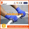 Gants en nylon bleus de sûreté de gant d'unité centrale de gris (DPU167)