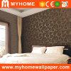 2016 neue einfache Brown Entwurfs-Tapete für Hotel