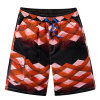 La scheda del Mens della fabbrica mette gli Shorts in cortocircuito praticanti il surfing di marca della spiaggia