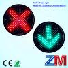 luz de sinal de piscamento do controle da terra da entrada de automóveis do diodo emissor de luz de 300mm com cruz vermelha & a seta verde