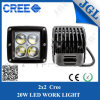 luz óptica del trabajo del CREE LED del cubo de la lente de 20W 4D
