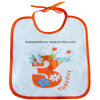 White promozionale Cotton Custom Printed Baby Bib con String Closing