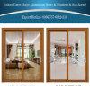 Los 2 paneles de puerta deslizante de aluminio/de aluminio