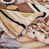 Normallack-korallenrote Vlies-Decke