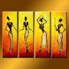 Comercio al por mayor la pintura abstracta de aceite africana Chica en Lienzo