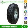 3.50-4 Rodas pneumáticas com as bordas do metal para caminhões de mão e carros da ferramenta