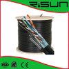 UTP Cat5e Cable a granel para uso al aire libre y cableado de arriba