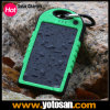 Sports 옥외 Power 은행 5000mAh Li Polymer Battery Solar Charger Waterproof
