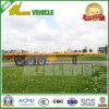 40FT는 3개 2개의 차축 타이어 콘테이너 수송 평상형 트레일러 트레일러를 두배로 한다