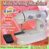 Mini máquina de coser del hilo de rosca doble, máquina de coser portable