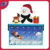 De Kalender van de komst met het Ontwerp van de Sneeuwman en 24 Laden voor de Gift en de Decoratie van Kerstmis