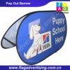 Full Color Printing Außen Gewohnheit Gewebe Retractable Pop Up Banner Ständer