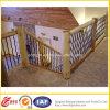 Escalera de interior de madera de acero inoxidable
