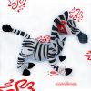 Зебра плюша и игрушка лошади плюша