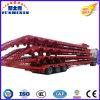 Reboque de Lowbed de 3 eixos para o transporte grande dos equipamentos