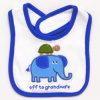 OEM農産物によってカスタマイズされるデザインロゴによって印刷される綿のテリーのとどま乾燥した幼児胸当て