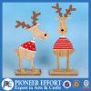 Ciervos de moda de madera para la decoración de la tapa de vector de la Navidad