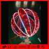빨간색 철 Fram 공 휴일 정원 빛 공