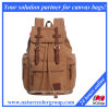 Mens Canvas und Leather Hiking Travel School Backpack