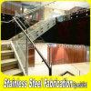 Barandilla de interior del vidrio de la escalera del acero inoxidable