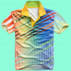 Coton/polyester de mode Nice All Over la chemise de polo estampée (P058)