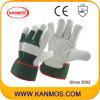 De groene Industriële Handschoenen van het Werk van de Veiligheid van het Leer van de Korrel van de Zweep (12004)