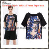 2015 Style europeo y americano Fashional Ladies Round Neck Short Sleeve Print T-Shirt (SK652)