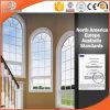 Hochwertiges Aluminiumbogen-Fenster mit dem Gitter-Entwurf hergestellt in China
