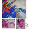 既製の正方形のあや織りの絹のスカーフ