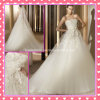 Trägerloses Tulle Applique Beading A - Zeile Wedding Dress (P008)