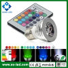 Kleur Changing E27/E14/GU10/Gu5.3/MR16 LED Bulbs 12V MR16 3W LED RGB Spotlight met de Afstandsbediening van IRL