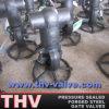 La pressione Confinare-Saldata di conclusione sigillata ha fucinato la valvola a saracinesca d'acciaio