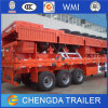 40feet 3 Axle 40ton Flatbed Trailer mit Container Lock