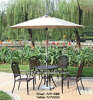 Caffetteria Outdoor Terrace Aluminum Chairs e Table Set del ristorante con Umbrella Hole