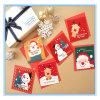 カスタマイズされたクリスマスの装飾的な折るペーパーギフトのカードの郵便はがきの挨拶状