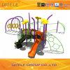 114mm galvanisierter Pfosten-bunter luxuriöser vertikaler Bergsteiger und sich hin- und herbewegendes Tunnel-Bergsteiger-Kind-im Freienspielplatz-Gerät