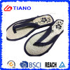 Cool Straw Insole and Embroidery Ladies 'Flip Flop (TNK35325)