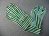 le gant de jardin de coton de la piste 5+6oz avec le PVC pointille (2602)