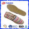 Form-flache und bequeme Fischer-Sandelholz-beiläufige Dame Shoes (TN36710)