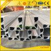 6063-T5製造所の終わりは産業アルミニウム構築のプロフィール突き出た