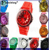Wristwatch wristwatch аналога кварца шкалы полосы вахт силикона цветастых женщин способа Yxl-265 мягкий