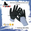 отделка Sandy нитрила 13G 3/4 с рангом 3 уровня перчатки ровного Coated отрезока нитрила упорной