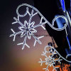 Indicatore luminoso del fiocco di neve delle decorazioni di natale dell'indicatore luminoso della corda del LED grande