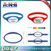 Wristband respetuoso del medio ambiente de encargo del silicón de NFC/RFID con impermeable