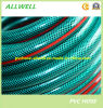 Boyau tressé de tissu-renforcé flexible en plastique vert de conduite d'eau de PVC