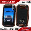 ハンマーH1+は二重スタンバイのロック解除されたスマートな電話コアアンドロイド4.2.2二重SIMのカードの二倍になる
